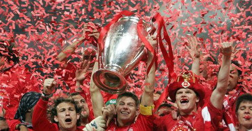 Liverpool: Hold aloft the Champions League final trophy in 2005