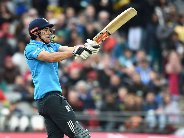 Alastair Cook hits out during an easy England win