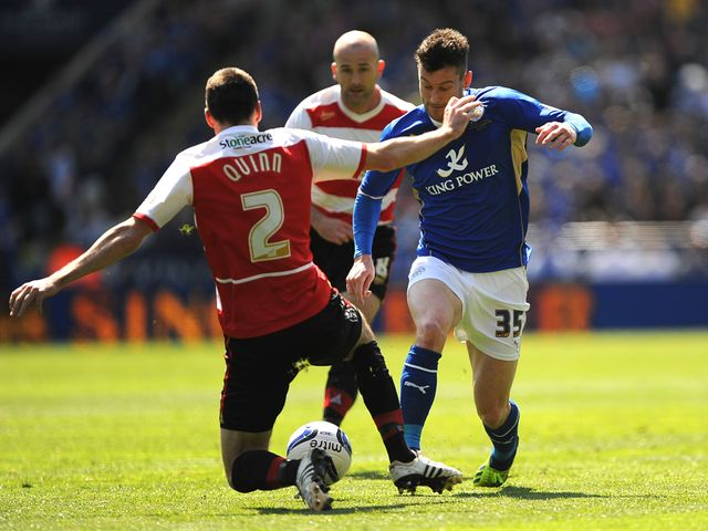 David Nugent in action for Leicester