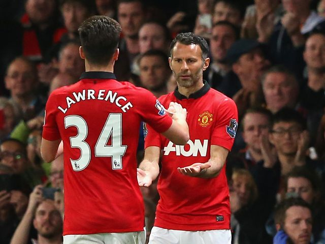 Ryan Giggs came off the substitutes' bench at Old Trafford