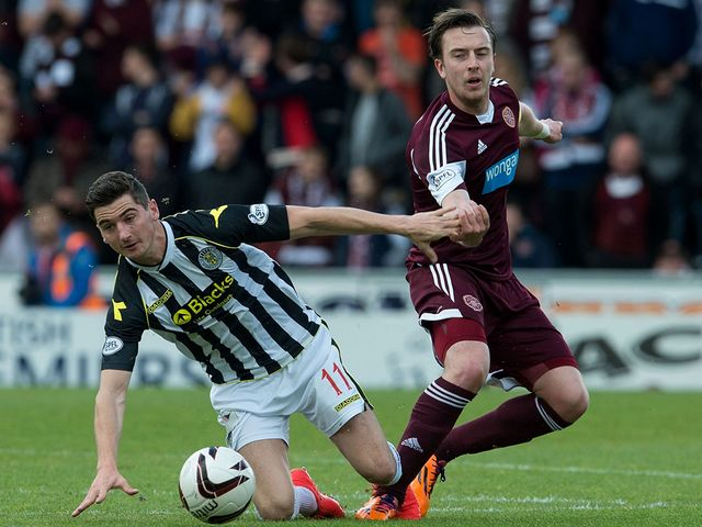 Kenny McLean goes up against Danny Wilson