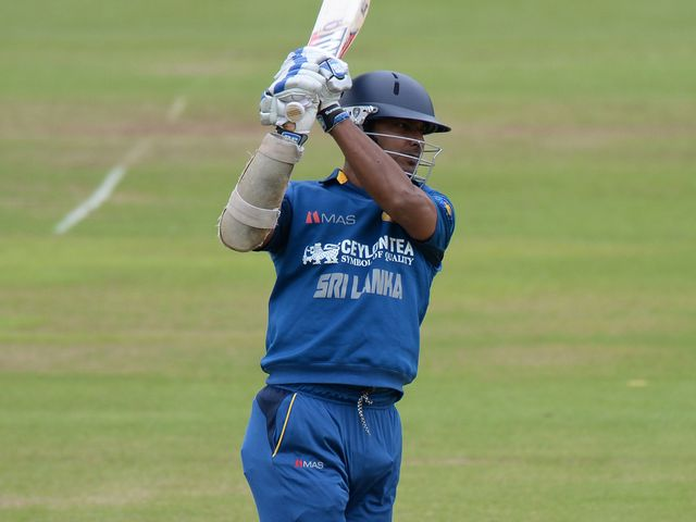 Kumar Sangakkara in action at Lord's