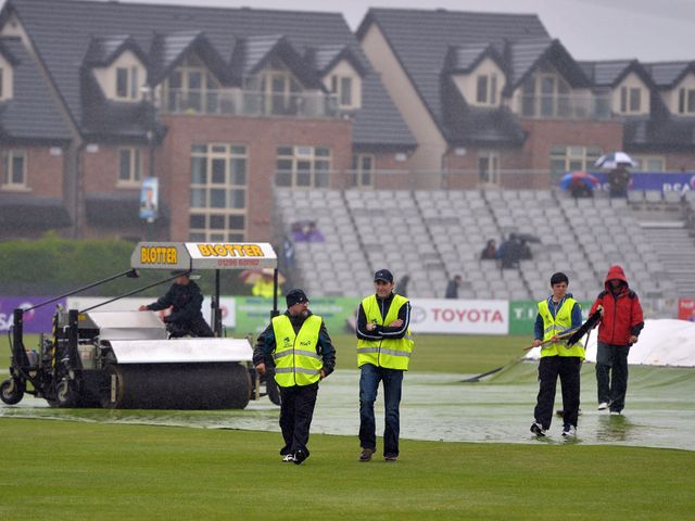 The second ODI between Ireland and Sri Lanka at Clontarf was washed out