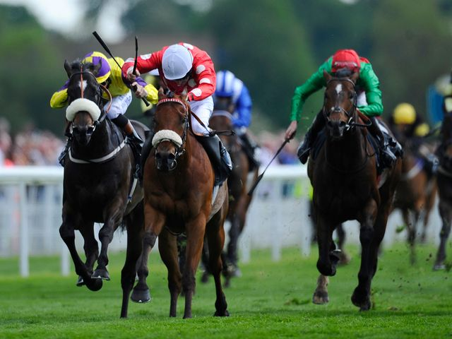 Declan McDonogh rides Maarek out to claim the Duke Of York Clipper Logistics Stakes