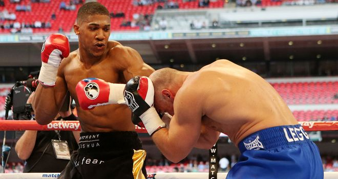 Anthony Joshua: On his way to a first round knockout win over Matt Legg