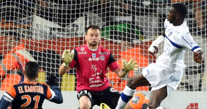 Bastia's Sambou Yatabare fires his side ahead