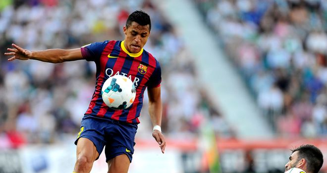 Alexis Sanchez in action for Barcelona
