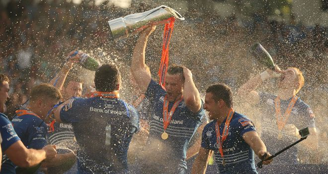 The celebrations begin for PRO12 champions Leinster