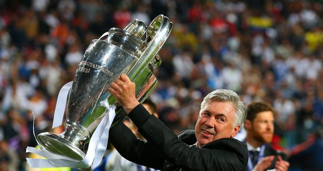 Carlo Ancelotti: Real Madrid boss lifted the European Cup once more