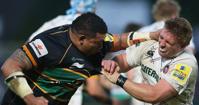 Northampton: Silesi Ma'afu misses the Amlin Challenge Cup final.