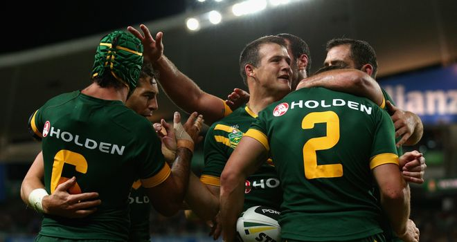 Australia celebrated their 16th straight victory in the Anzac Test