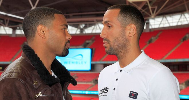 Brandon Gonzales (l): Confident he can last the pace with James DeGale (photo by Lawrence Lustig)