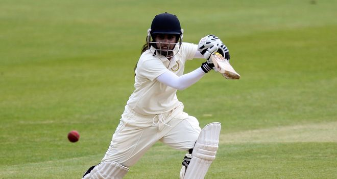 Mithali Raj: has the responsibility of guiding her team home on the final day