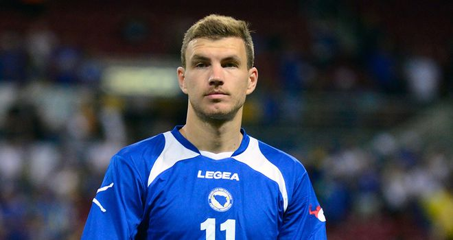 Edin Dzeko: Will lead the line for Bosnia in Brazil