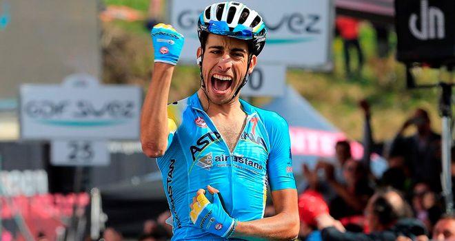 Fabio Aru won by 21 seconds on stage 15