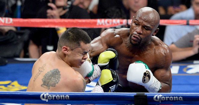 Floyd Mayweather: Professional record now stands at 46-0 after win over Marcos Maidana