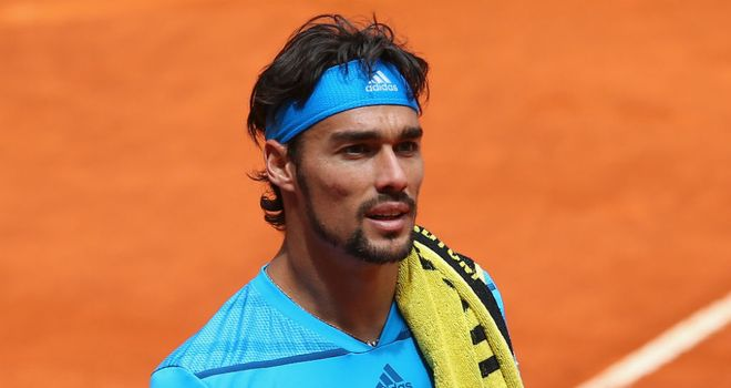 Fabio Fognini: Involved in an ugly exchange with umpire Mohamed Lahyani