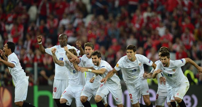 Sevilla: Triumphed 4-2 on penalties after a 0-0 draw with Benfica