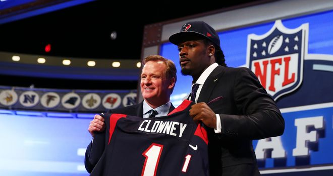 Jadeveon Clowney is confirmed as the No 1 pick by NFL Commissioner Roger Goodell