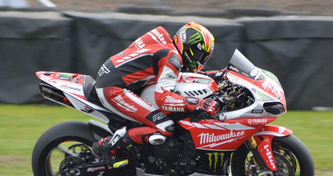 Leading from the front: Josh Brookes exits Old Hall on his way to victory in race two at Oulton Park. Photo: Nick Soye