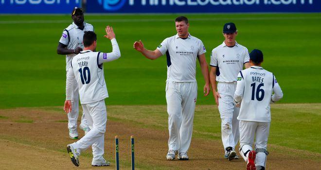 Matt Coles : took seven wickets in the match