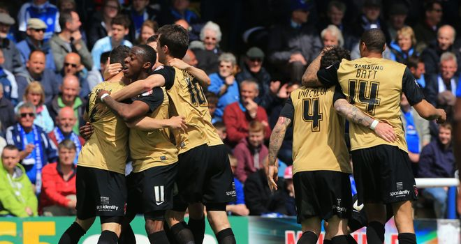 Moses Odubajo: Celebrates scoring Orient's equaliser