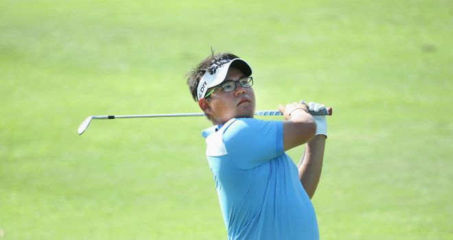 Panuphol Pittayarat: Strong finish earned him the halfway lead in Singapore