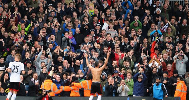 Chris David (centre): Celebrates goal that earned 2-2 draw with Crystal Palace