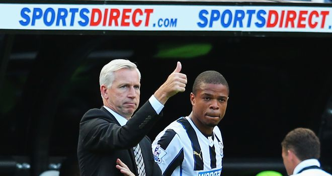 Alan Pardew (l): Remains confident of securing Loic Remy's services