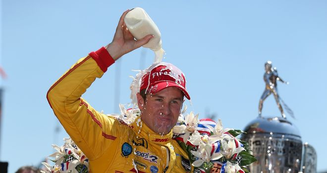 Ryan Hunter-Reay: Won the Indianapolis 500 before celebrating with the traditional bottle of milk