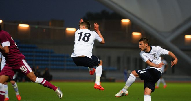 Jake Forster-Caskey: Strikes England U21s' second goal