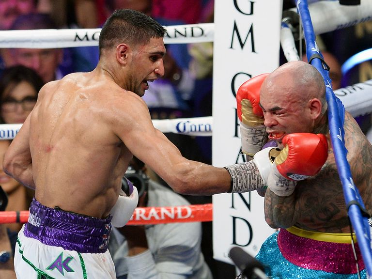Amir Khan: 'Stole the show' against Luis Collazo