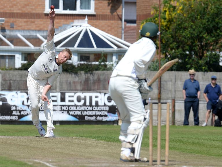 Andrew Flintoff in action on Saturday