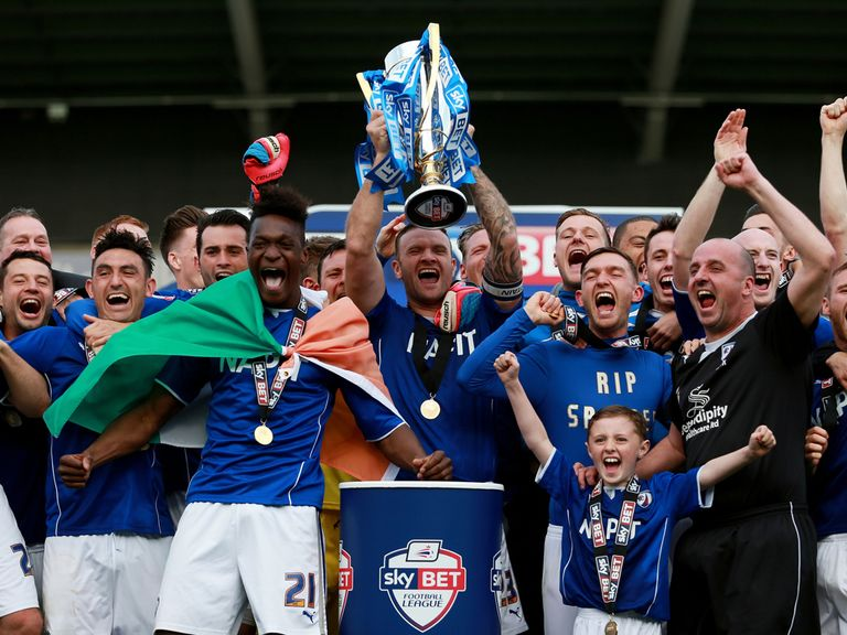 Chesterfield lift the Sky Bet League 2 trophy