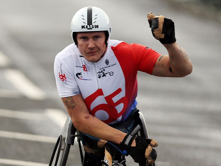 David Weir: Broke the world record for the wheelchair mile