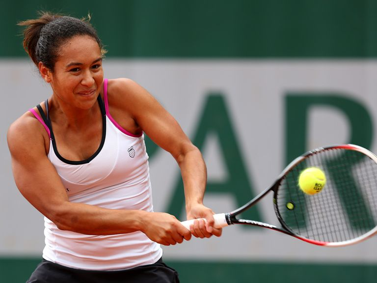 Heather Watson: Through in straight sets