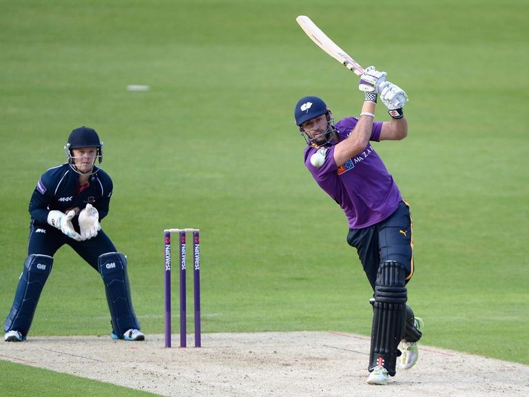 Liam Plunkett: In fine form with the bat for Yorkshire