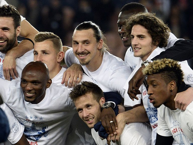 PSG celebrate being crowned French champions