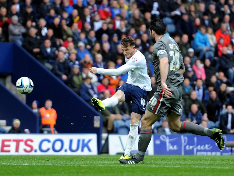Joe Garner scores a wonder goal for Preston v Rotherham