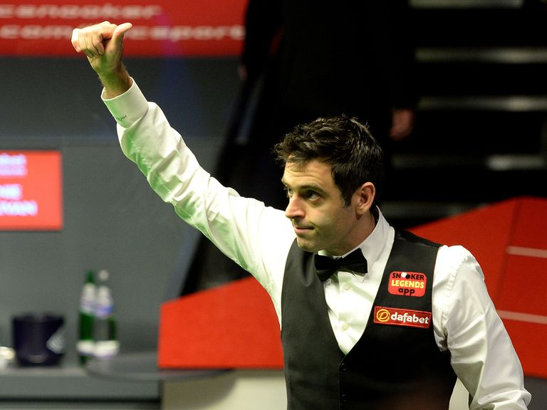 Thumbs up from O'Sullivan as he books his final place