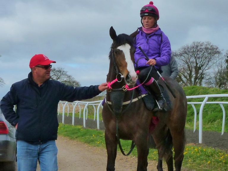 Richard Fahey with Clouds Rest on the gallops