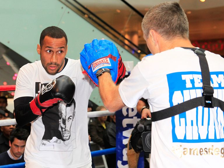James DeGale: Has targeted Carl Froch's IBF title