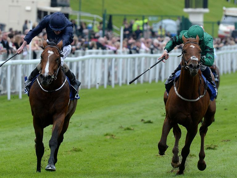 Romsdal (right): Supplemented for the Investec Derby