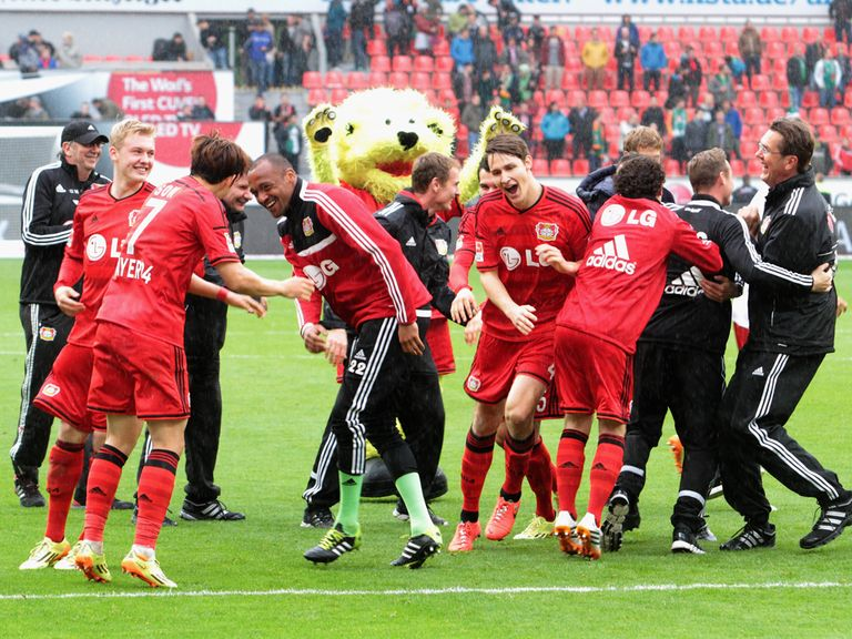 Celebrations for Bayer Leverkusen