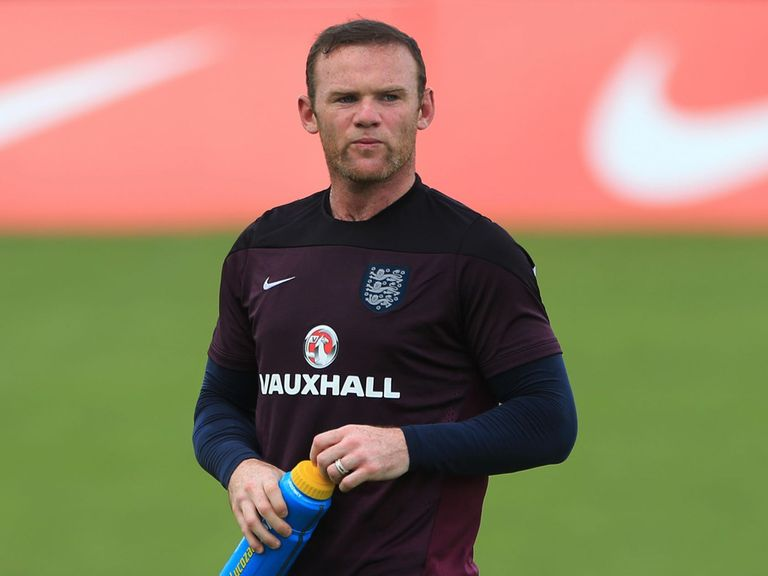 England's Wayne Rooney during a training session in Portugal