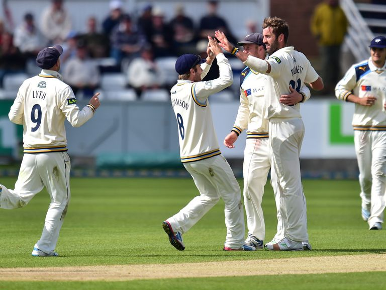 Yorkshire's Liam Plunkett took four wickets