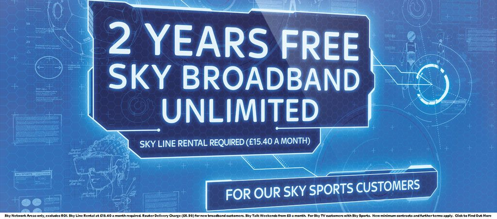 2 Years Free Sky Broadband Unlimited