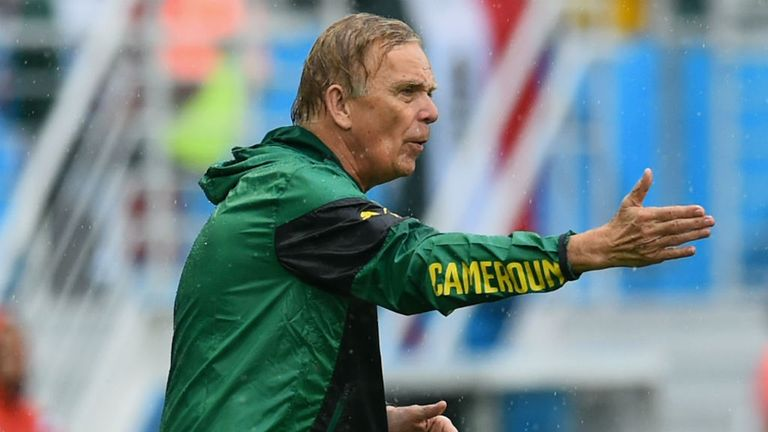 Volker Finke: Saw Cameroon come unstuck in the rain against Mexico