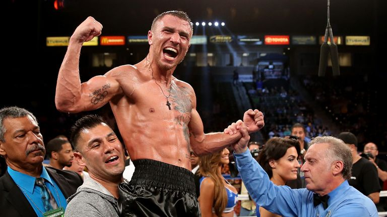 Vasyl Lomachenko: Celebrates his win