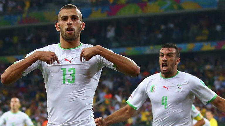 Islam Slimani: Grabbed a priceless goal for Algeria